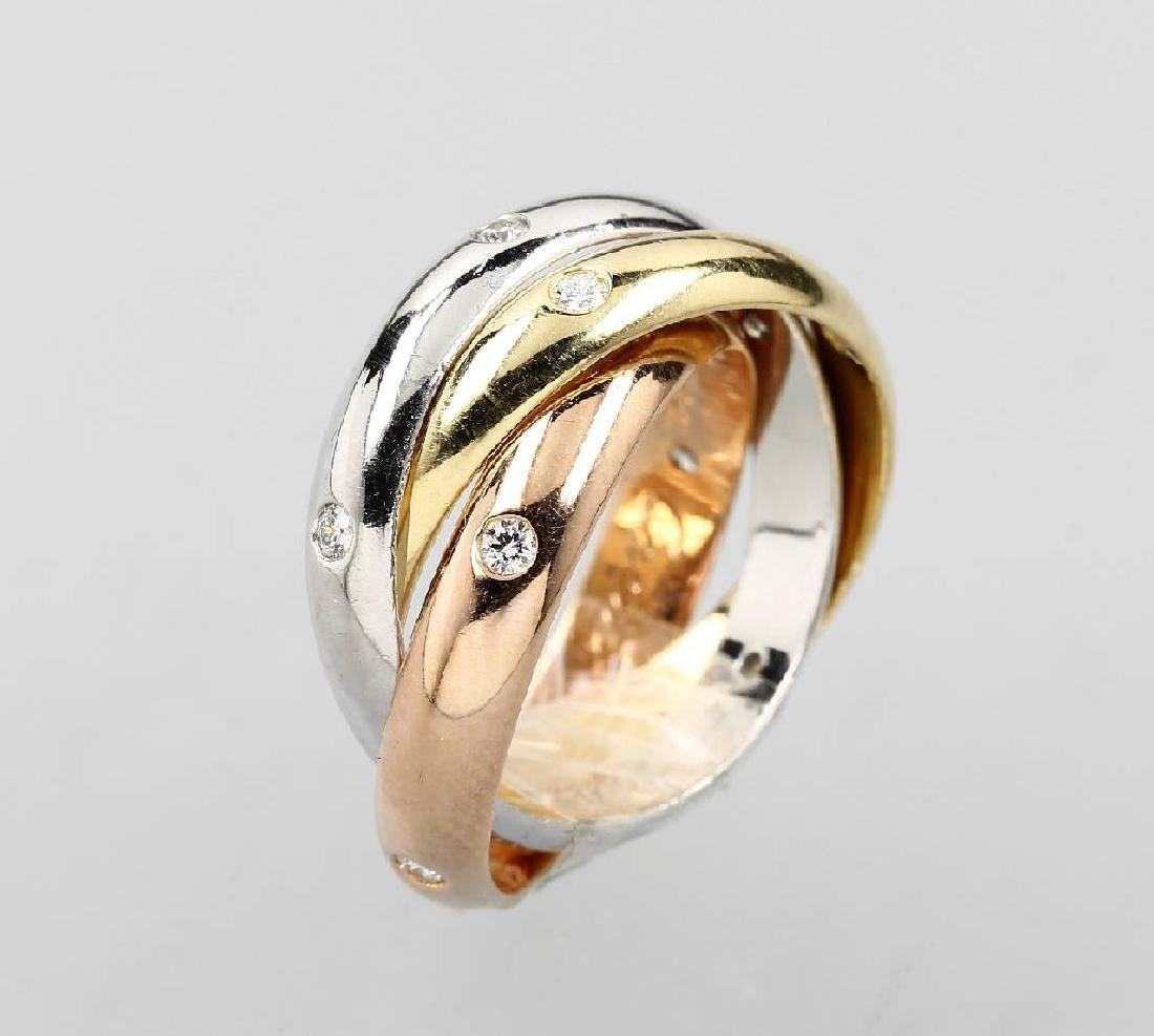 18 kt gold CARTIER Trinity ring with brilliants