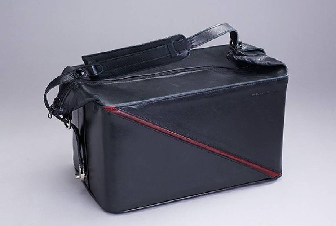 Beautycase Porsche, black leather