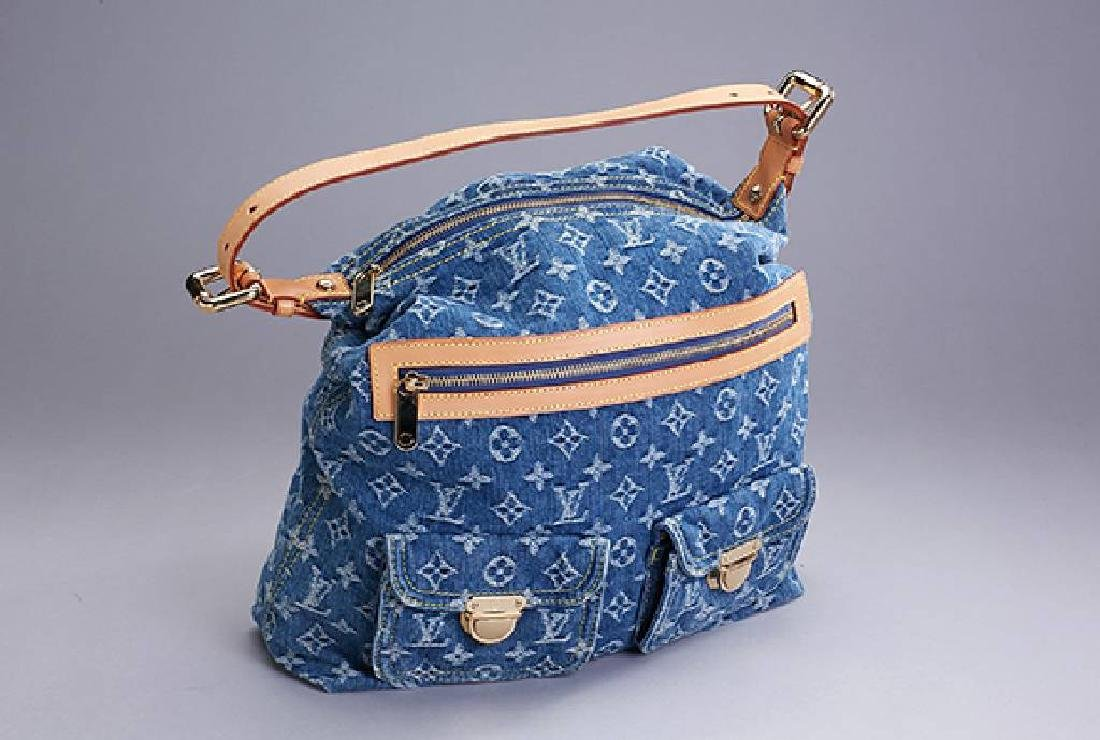 LOUIS VUITTON bag Denim Baggy GM, Monogram Idylle, blue