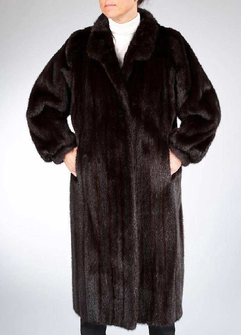 Mink-coat, size approx. 36/38