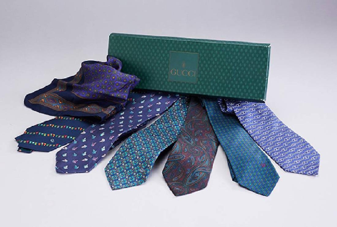 Lot 6 GUCCI ties, Made in Italy