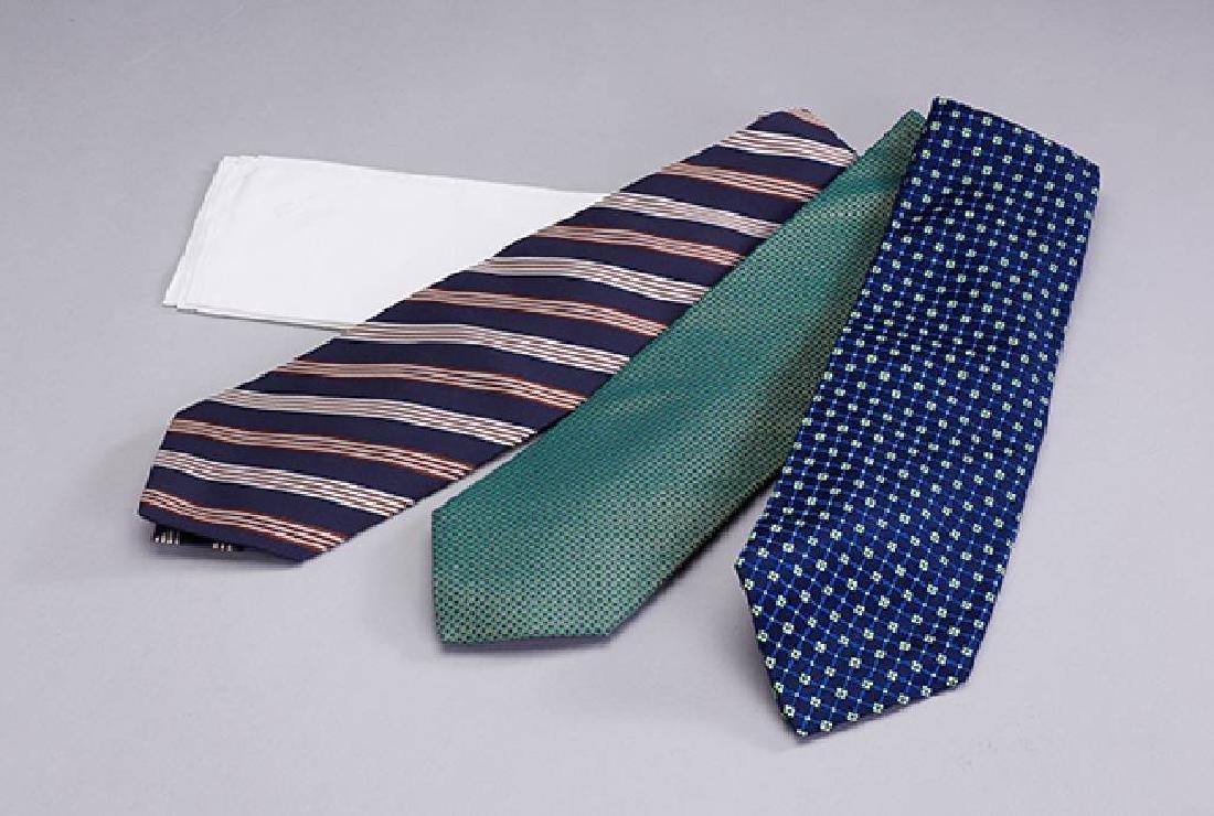 Lot 3 designer ties 'Business', 100% silk, comprised