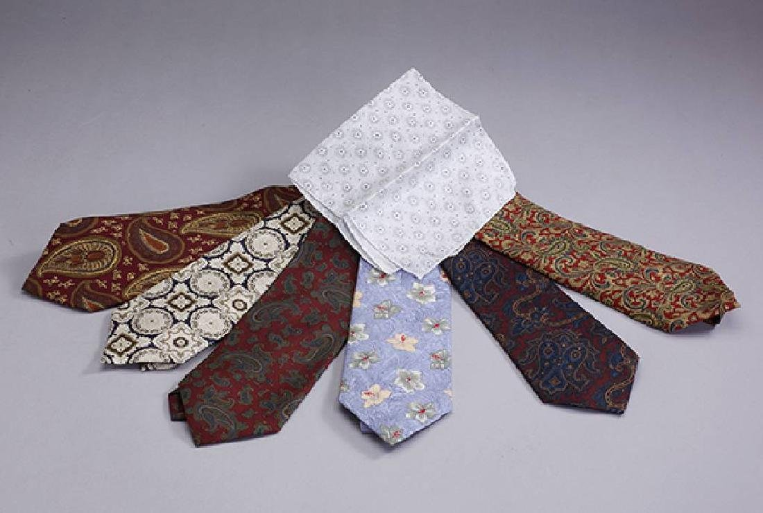 Lot 6 Designer ties, 'Young Dandy', and 1 pocket