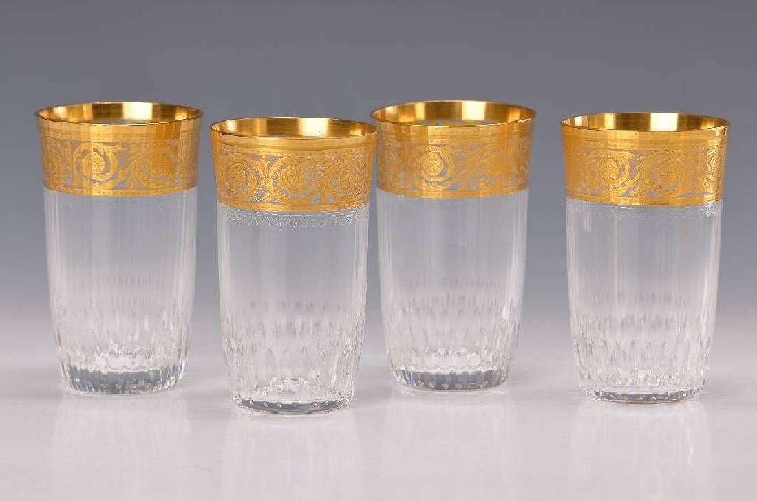Six beakers
