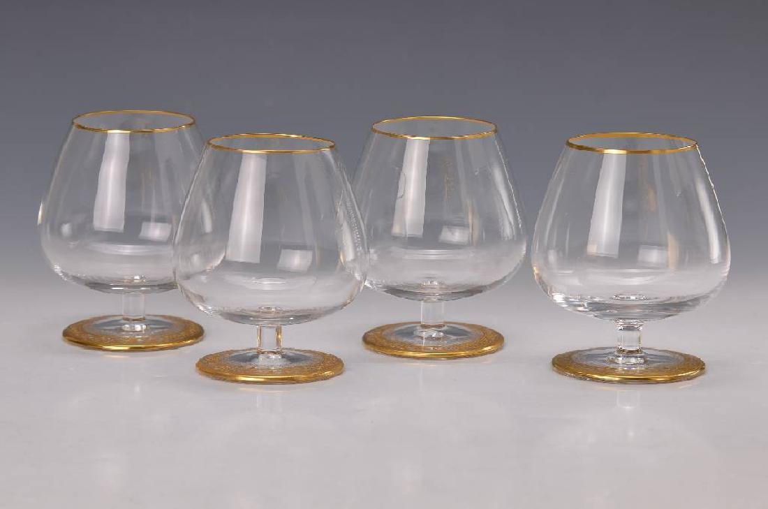 Six cognac glasses