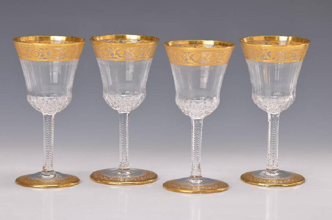 Six wine glasses