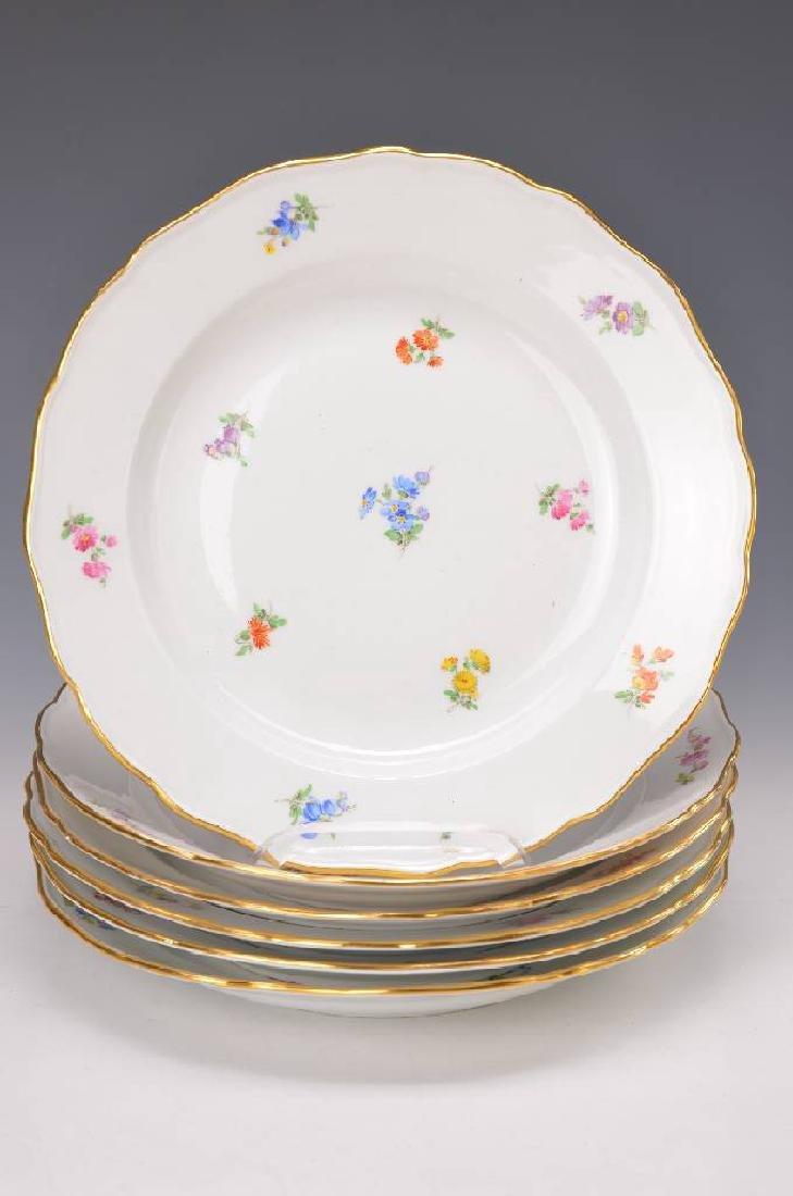 6 flat plates, Meissen