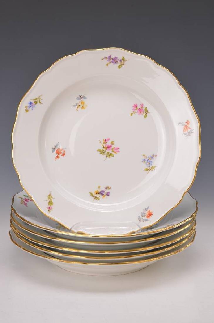 6 plates, Meissen