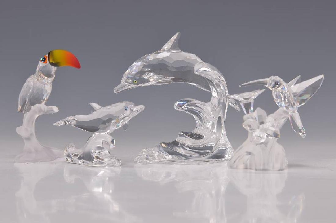 Four Glass sculptures