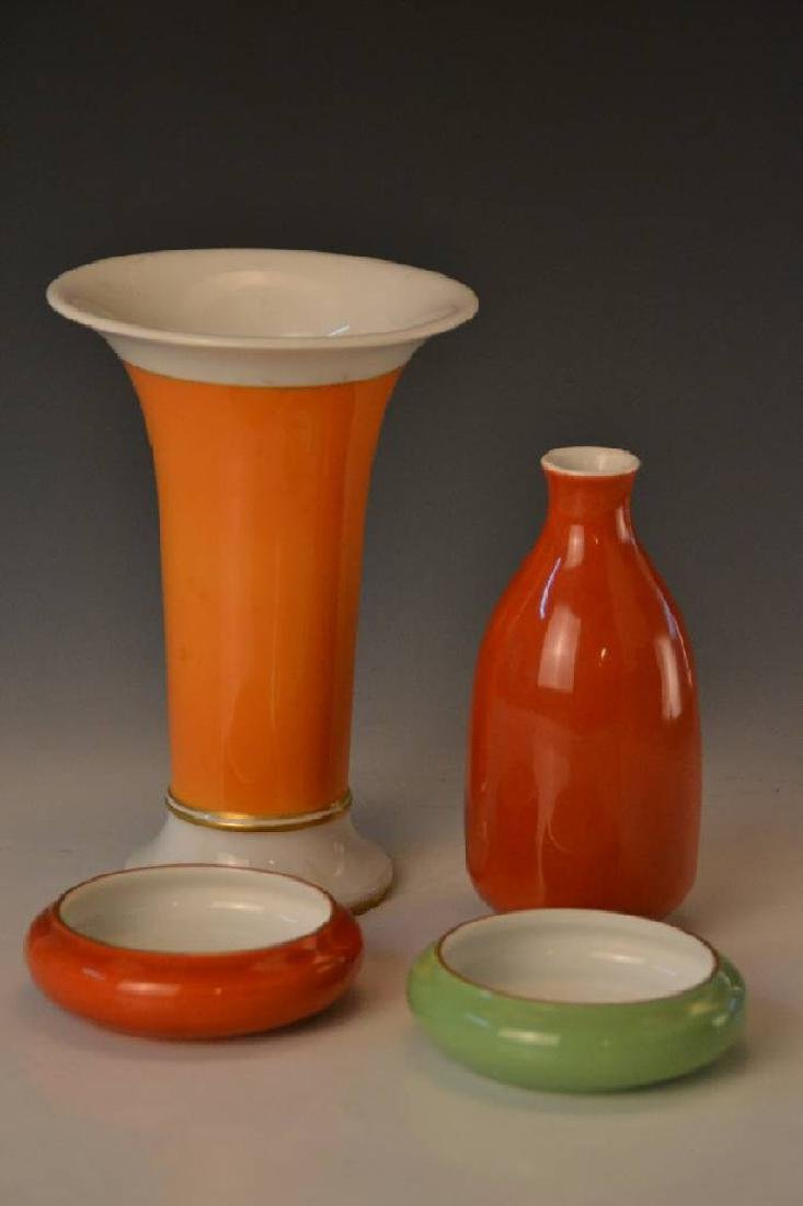 two vases and two small bowls