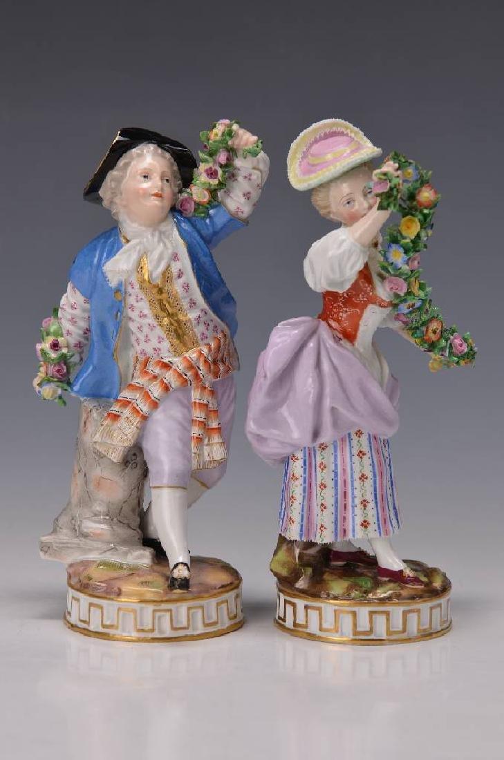 pair of figurines, Meissen