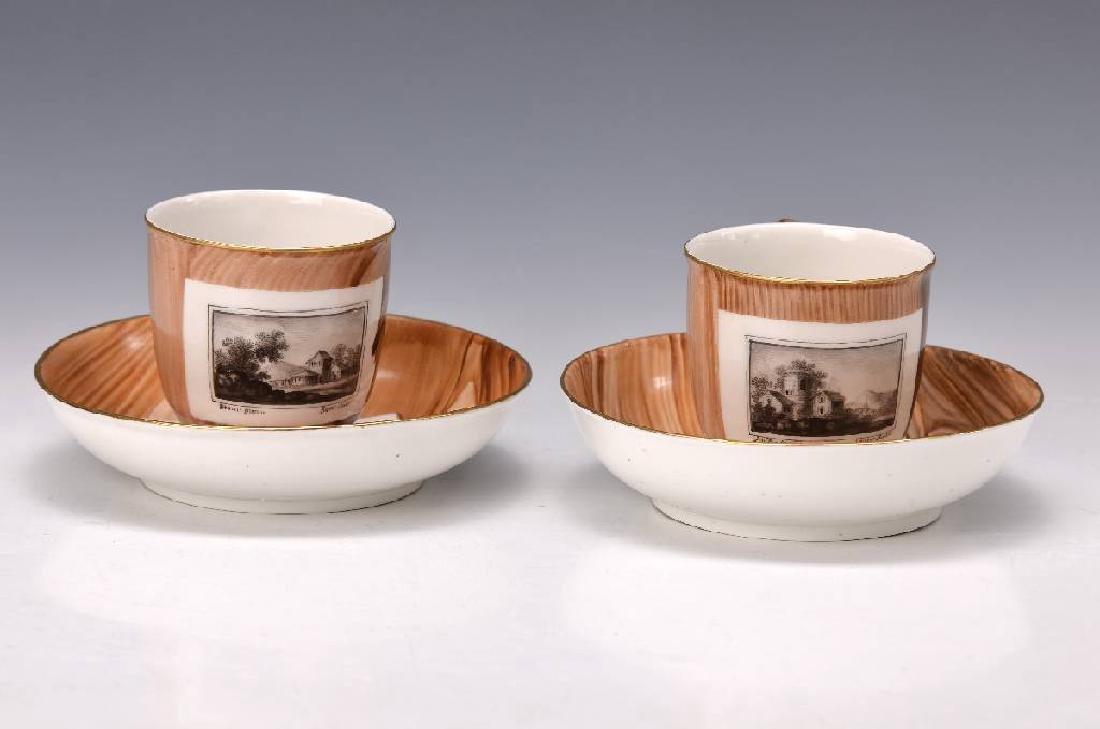 pair of cups Frankenthal