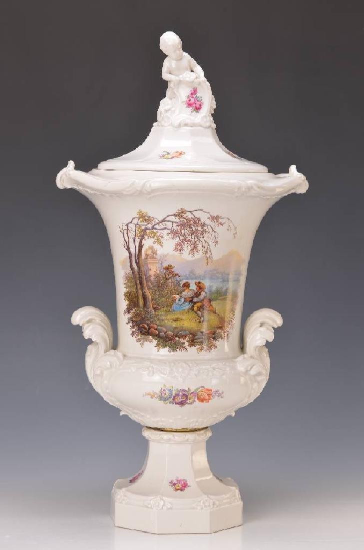 large Pomp lidded vase