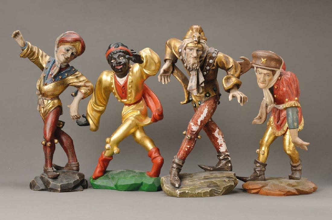 Four Morris dancers