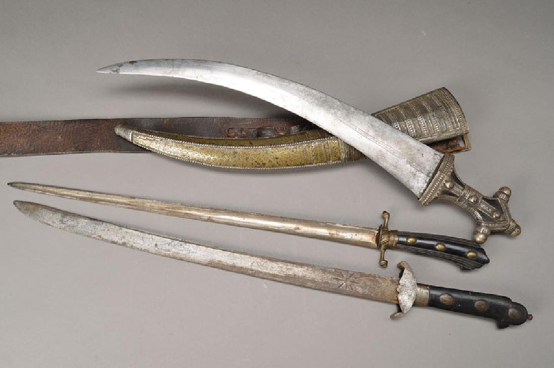 two hunting knife