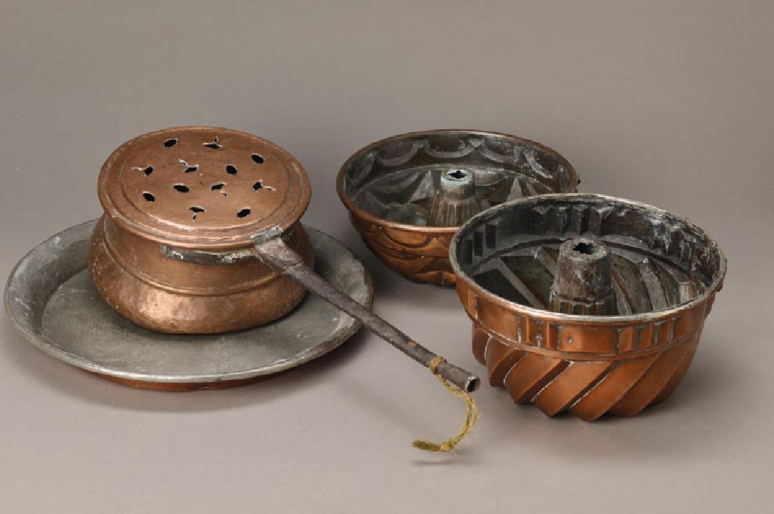 bedpan and four parts of copper