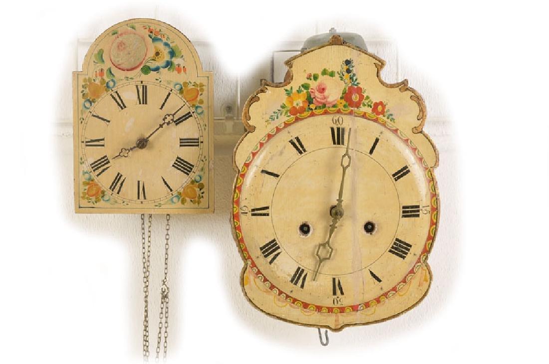 two shield clocks