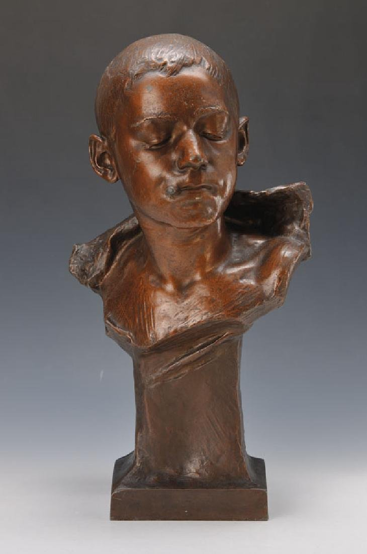 Bust of a smoking boy