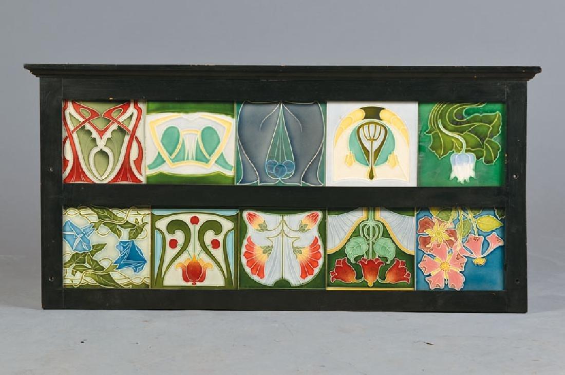 10 Art Nouveau-tiles