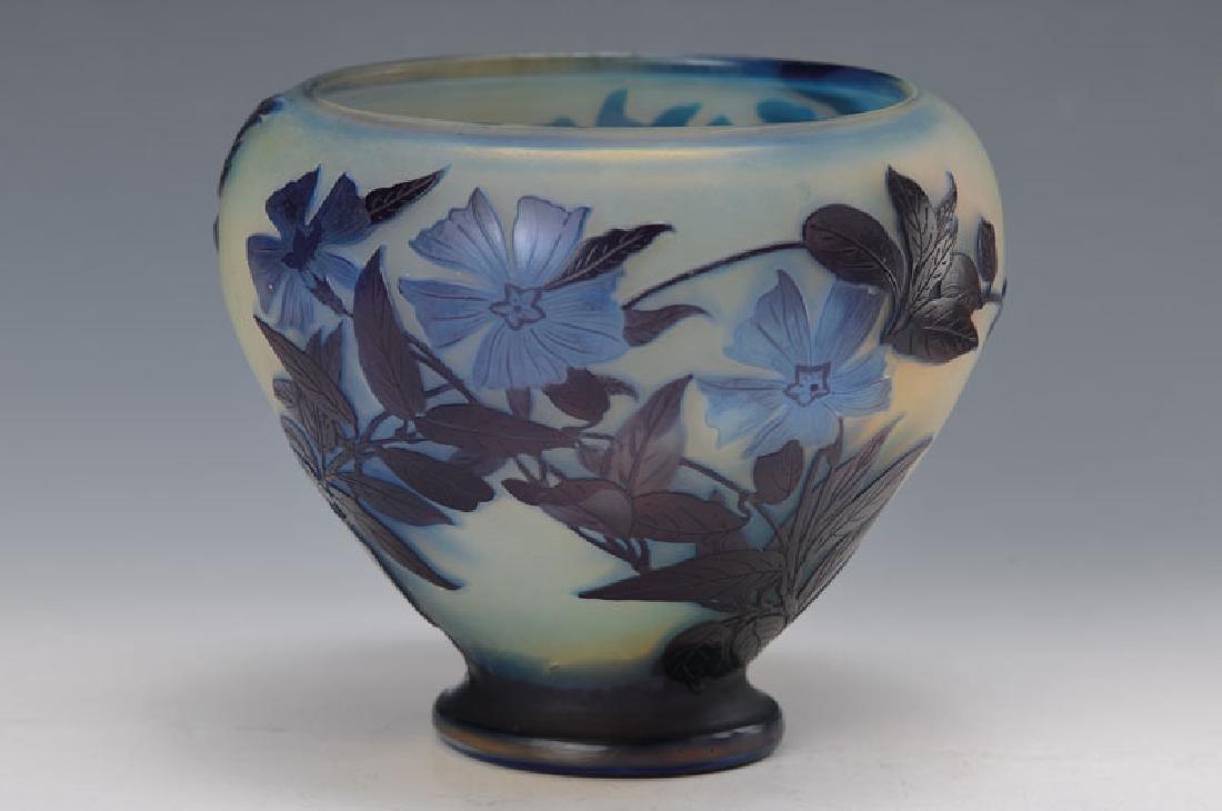 foot vase, Gallé