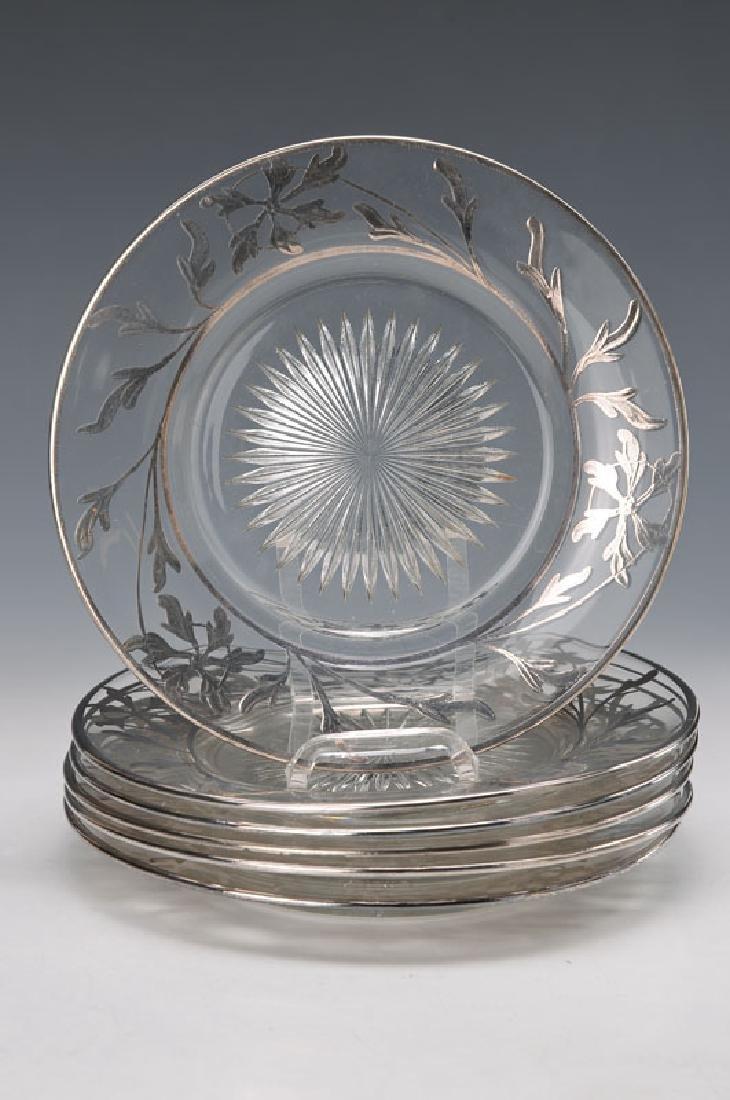 6 plates, Art Nouveau
