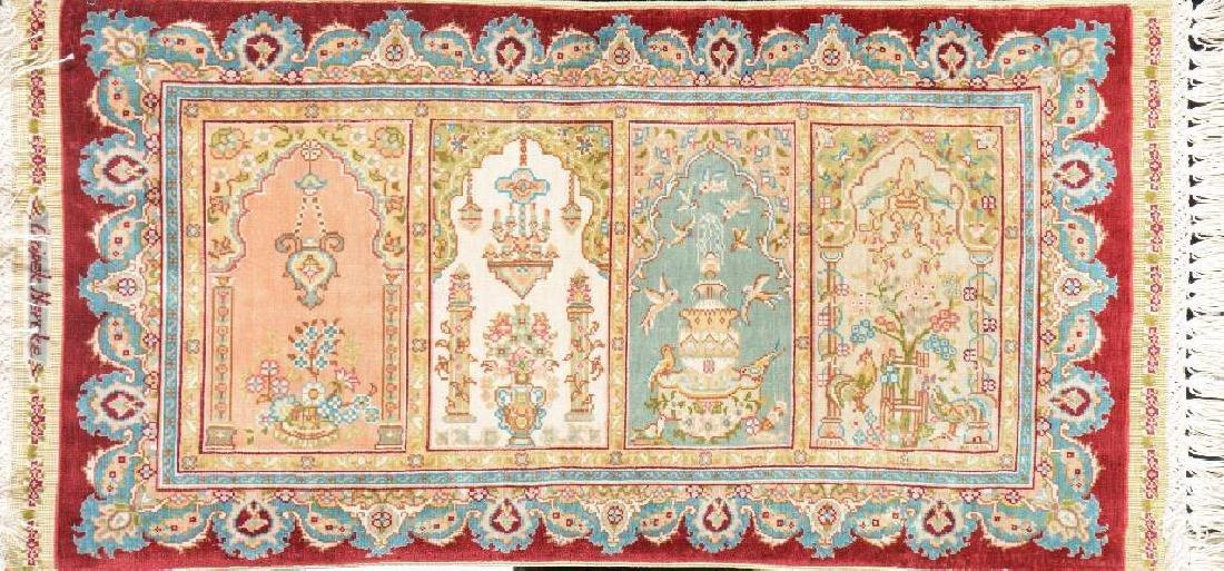 Extremely Fine Silk 'Özipek' Rug (Signed) '13 x 13