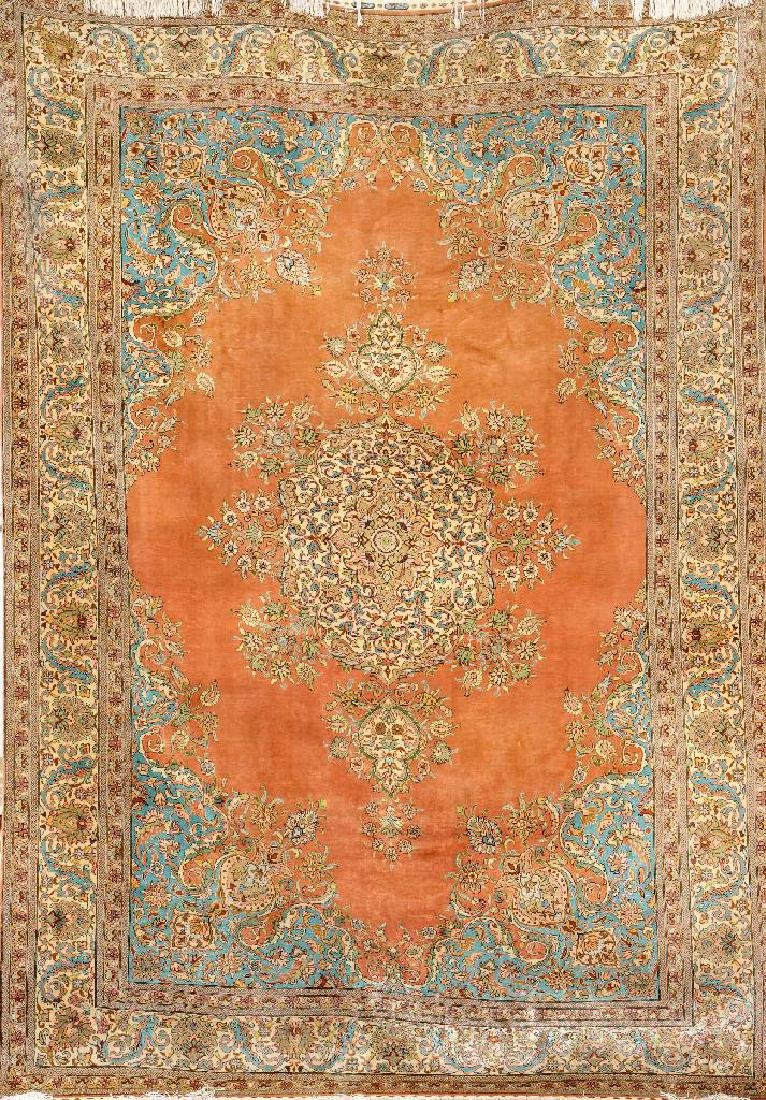Fine Silk & Metal-Thread Istanbul 'Cinar' Small-Carpet