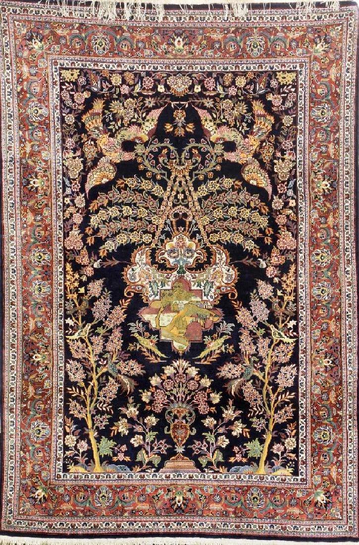 Fine Silk Kashmir Rug (Kashan Design),