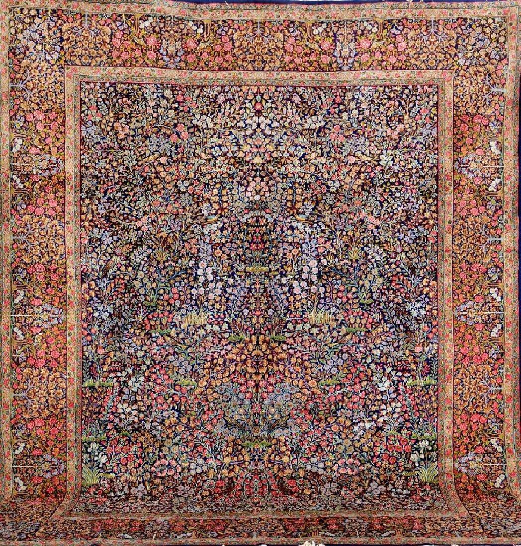 Kirman-Lawer Carpet (Mille-Fleur Design),