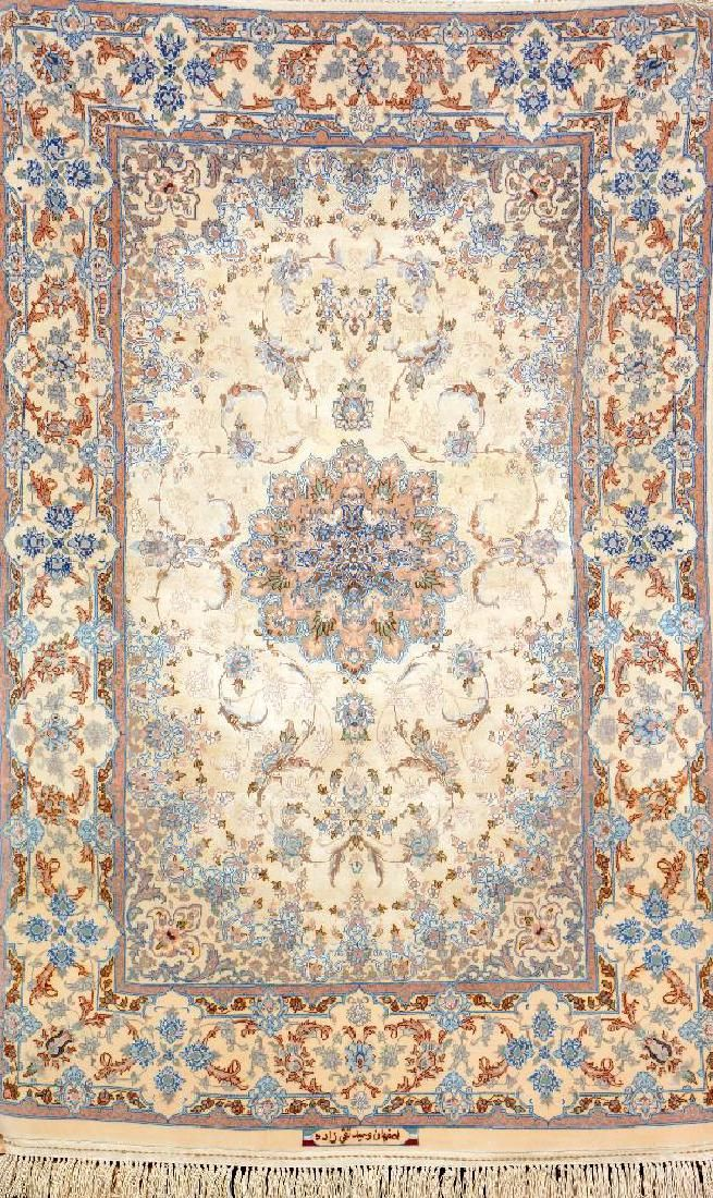 Fine Silk Ground Isfahan 'Vahid Taghizadeh' (Part-Silk)