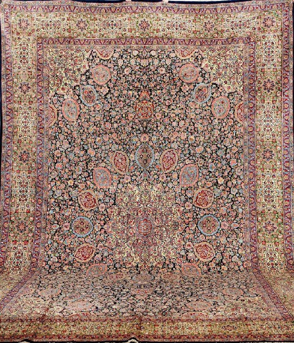 Large Kirman-Lawer 'Rashid Farokhi' (Signed) Carpet