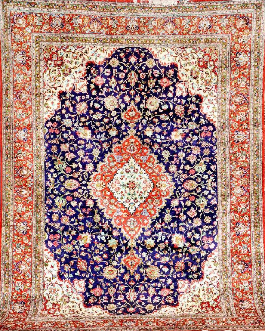 Fine Silk Qum Carpet,