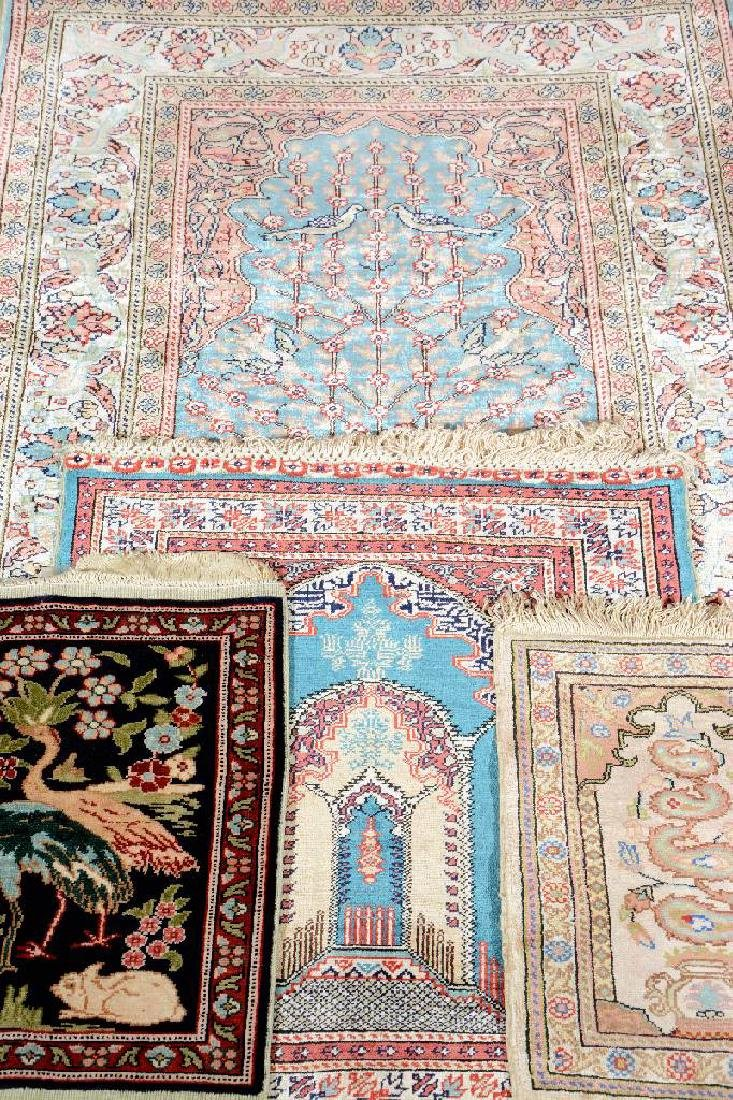 (4 Lots) 4x Silk Kaisery Rugs,