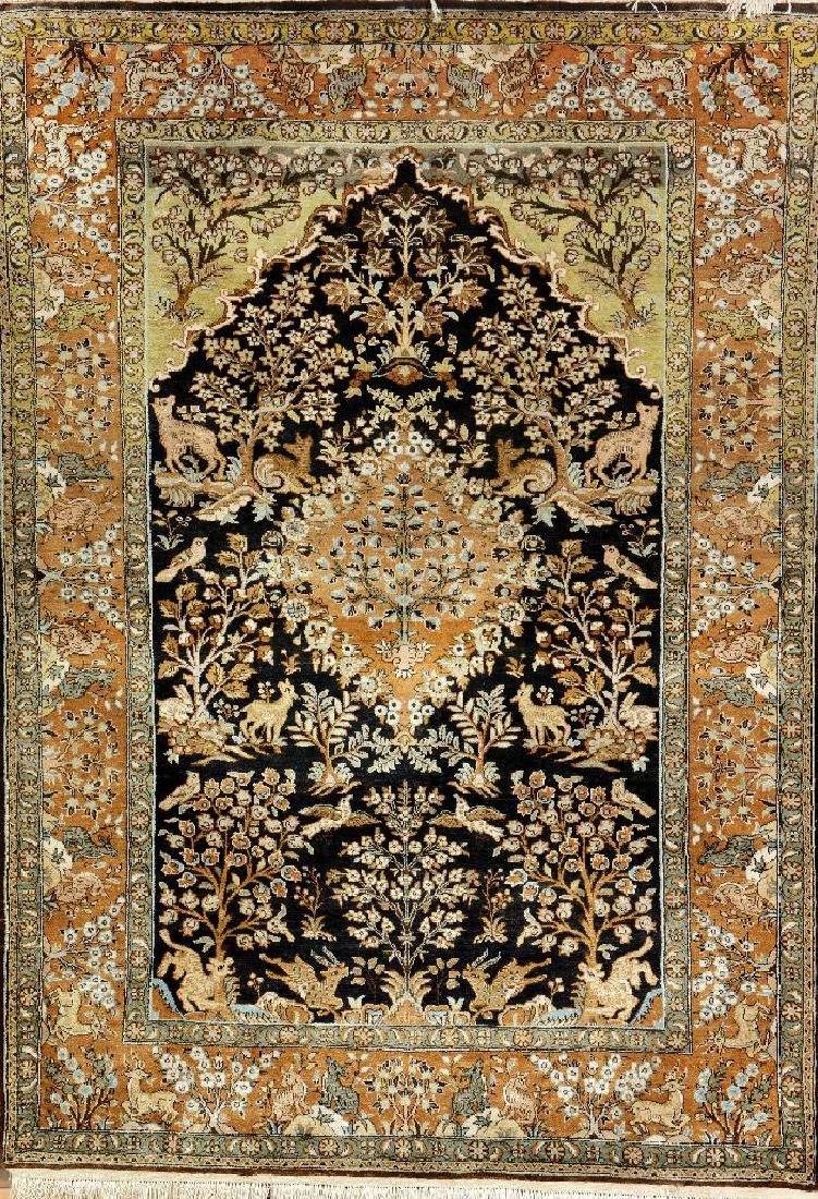 Silk Qum Rug (Paradise Design),