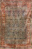 Early Silk Heriz Rug,