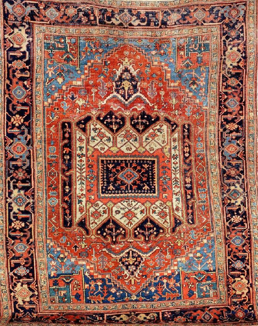 Unusual Heriz Carpet,