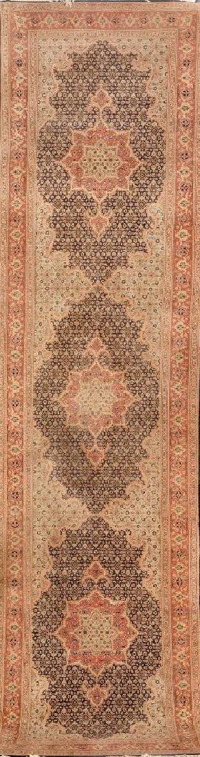 Tabriz 'Part-Silk' Runner,