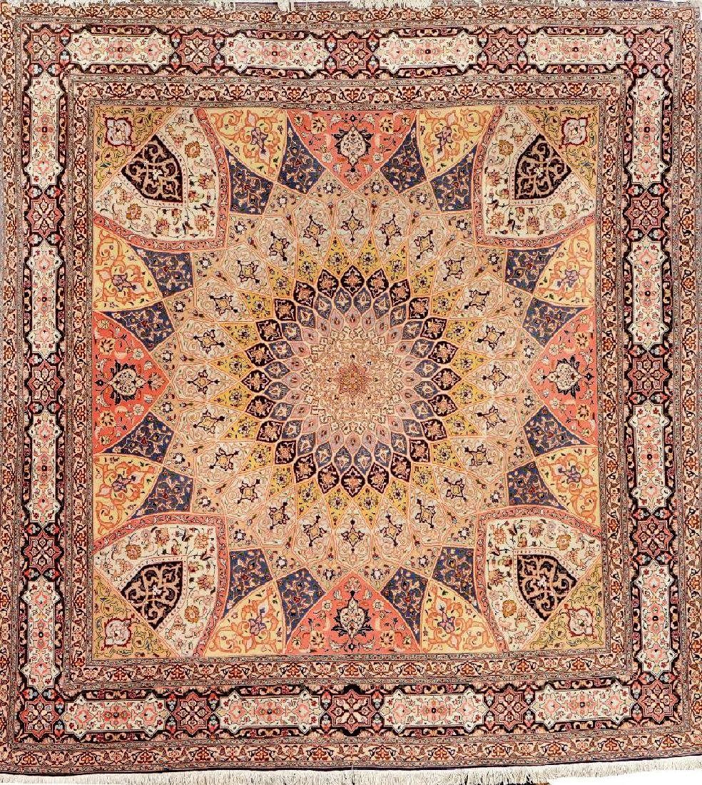 Fine Tabriz 'Part-Silk' Carpet (50 RAJ),