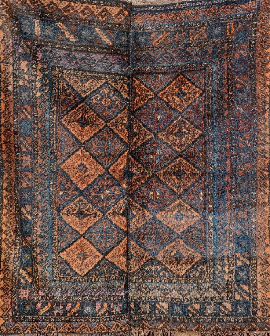 Baluch 'Wedding Rug' (Two Panels Sewn Together),