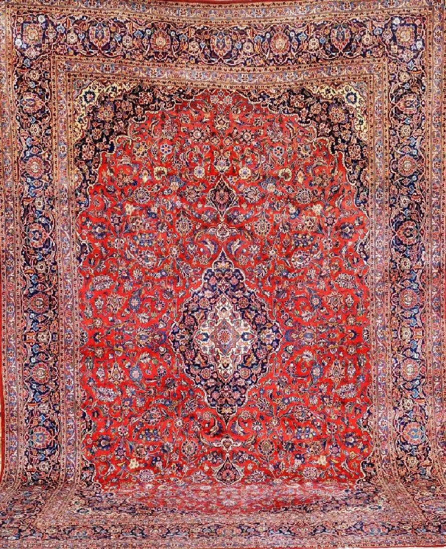 Fine Kurk Kashan Carpet,