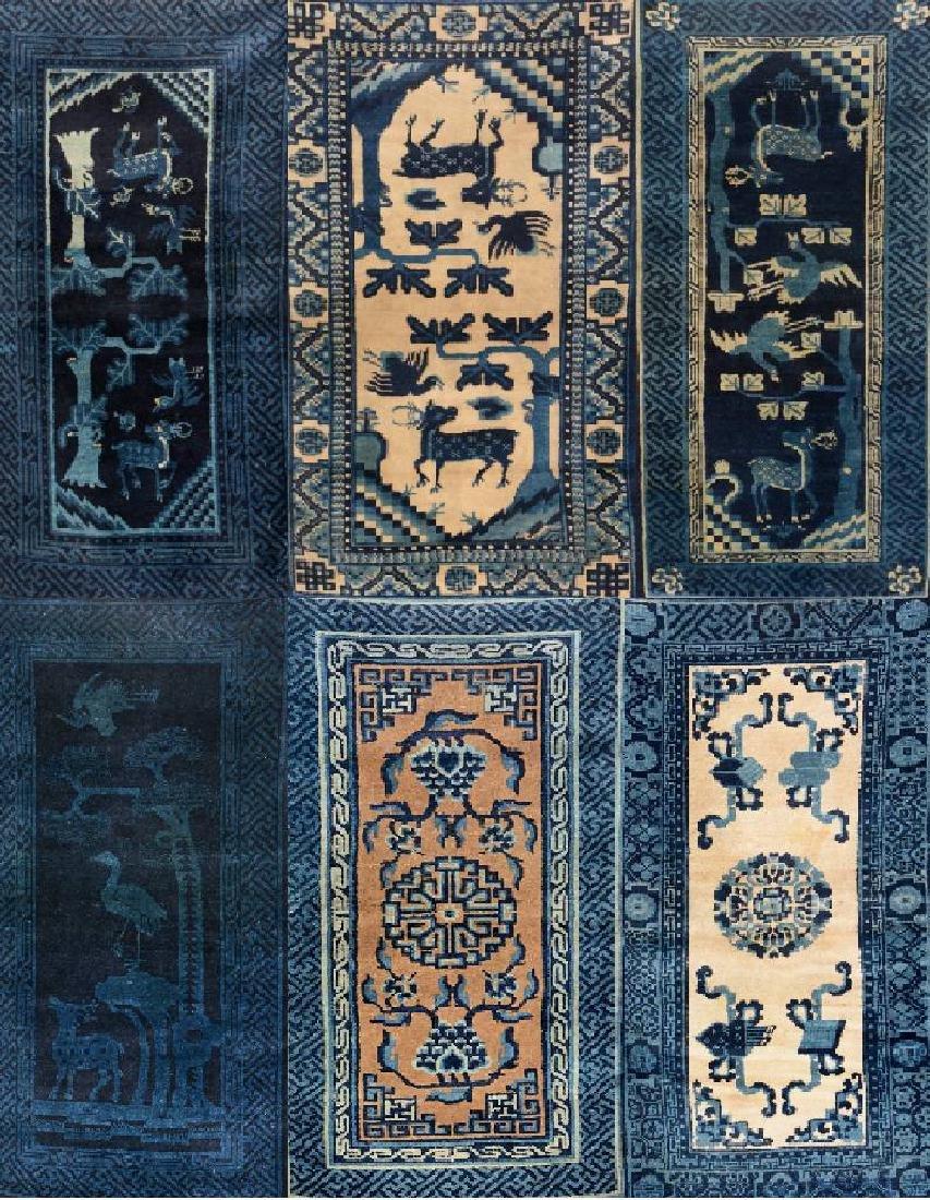 (6 Lots) 6x Pao Tao Rugs,