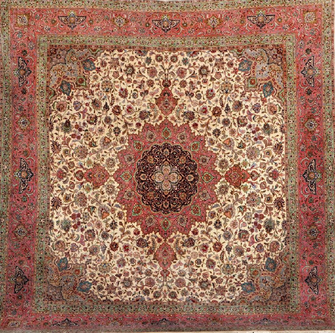 Tabriz 'Part-Silk' Carpet (50 RAJ),