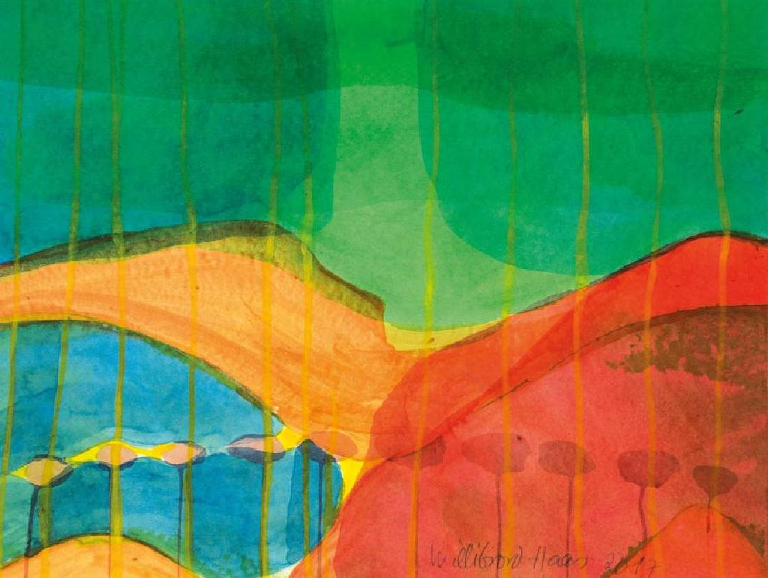 Willibrord Haas, born 1936, full of heat, watercolor