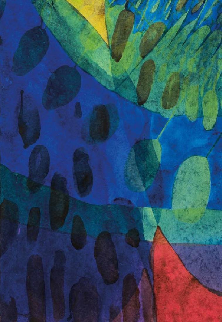 Willibrord Haas, born 1936, dark, dark, watercolor