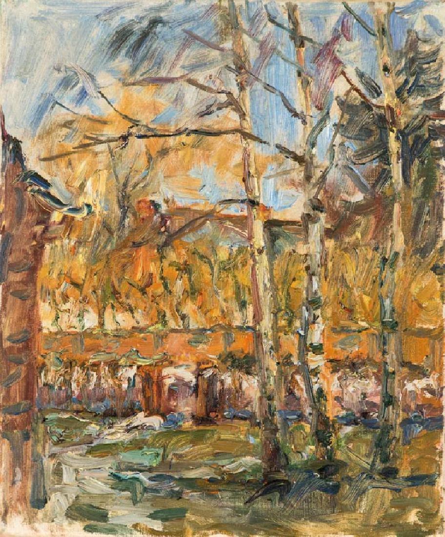 Albert Feser, 1901-1993, front yard Droysen street