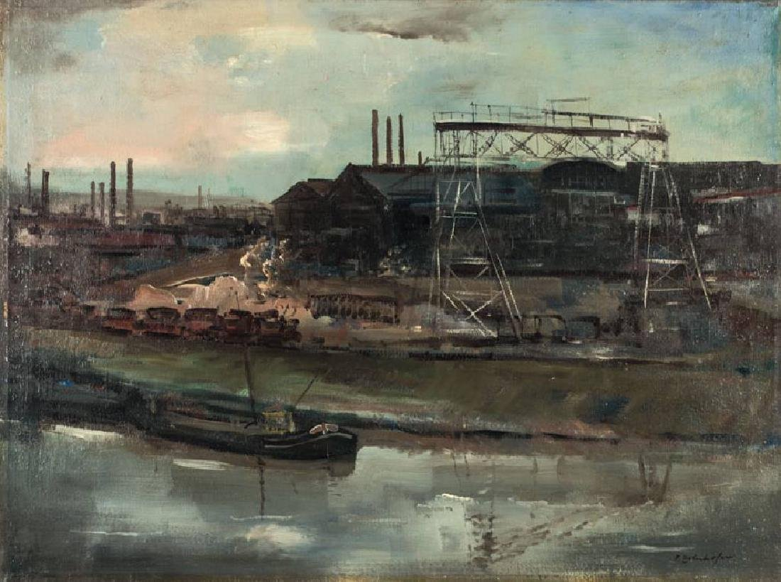 Fritz Zolnhofer, 1896-1965, Industrial landscape on
