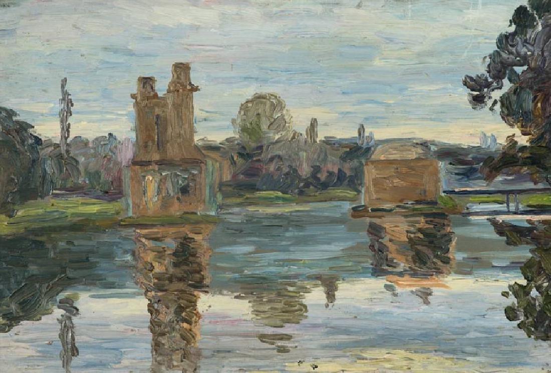 Albert Feser, 1901-1993, At the sea, oil/board