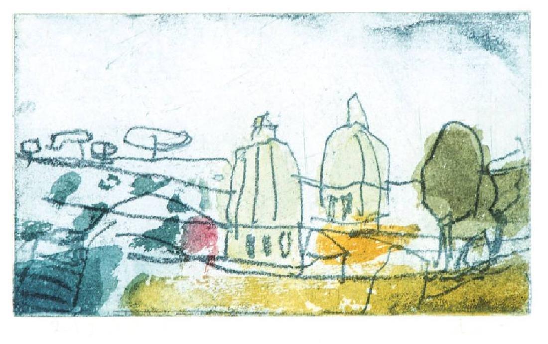 Klaus Fussmann, born 1938 Velbert, view on St.Peter