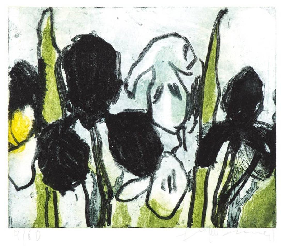 Klaus Fussmann, born 1938 Velbert, Iris, etching