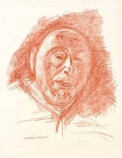 Hans Purrmann, 1880-1966, Self-Portrait II, lithograph